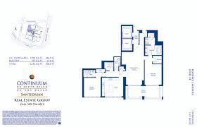 continuum floor plans north tower continuum south beach condo
