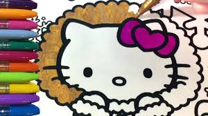 hello kitty coloring pages glitter winter wonderland youtube