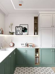 green kitchen cabinets with white countertops pin by vintage modern kollectiv int on transition small