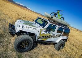 jeep with surfboard jk nebo roof rack black teraflex