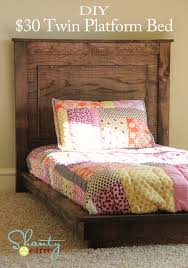 Build A Platform Bed Cheap by 30 Pottery Barn Inspired Twin Platform Bed Shanty 2 Chic