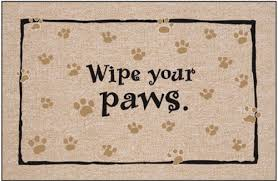 Wipe Your Paws Coir Doormat Wipe Your Shoes On The Mat Style Guru Fashion Glitz Glamour