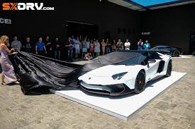 lamborghini customised first customised aventador sv in the world with armytrix exhaust