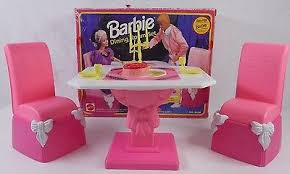barbie dining room throwback 70s 80s and 90s barbies collection on ebay