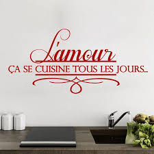 proverbe cuisine humour stickers sweyn stickers amour en cuisine 10 50x20 cm