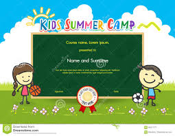 Participation Certificate Templates Free Download Summer Camp Certificate Template Popular And Various Templates