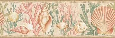 seashell wallpaper border
