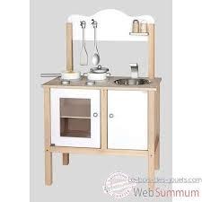 cuisine bois enfant janod viga toys cuisine noble blanche v50223 de toys dans