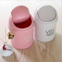 Small Desktop Trash Can Hoomall Wooden Storage Box Jewelry Container Makeup Organizer Case