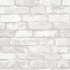 peel and stick shiplap lowes nuwallpaper grey and white brick peel and stick wallpaper lowe u0027s