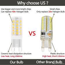 led light bulb wattage chart g9 led light bulbs 5 watt equivalent to 40 watt halogen bulb 120