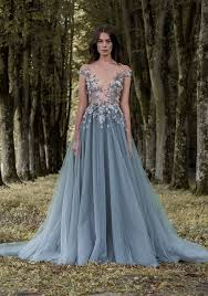 3d floral sheer plunging paolo sebastian pale ocean blue tulle