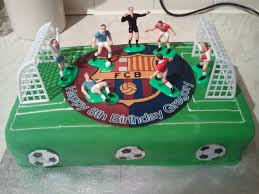personalised cakes 12 x 8 35 inc personalised cake topper goals and figures
