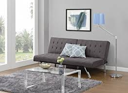 Couches That Turn Into Beds Amazon Com Dhp Emily Futon Sofa Bed Modern Convertible Couch