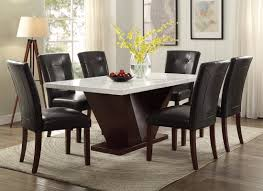 marble dining room table and chairs acme furniture forbes marble dining table reviews wayfair