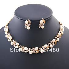 fashion jewelry pearls necklace images 2018 2014 fashion christmas gifts african jewellery set 18k gold jpg