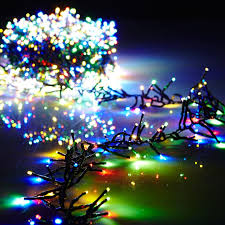 led garland christmas lights 19 6 foot christmas cluster lights with 600 multi color led garland