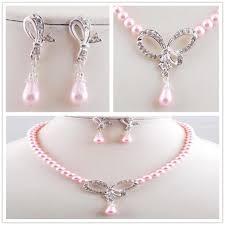 diamond sets design best new european design women pearl diamond necklace earrings set