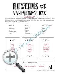 rhythm worksheets u2013 valentine u0027s day theme bucket drumming 101