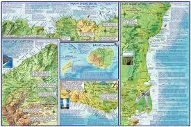 Ups Shipping Map Kauai Hawaii Adventure Guide Franko Maps Waterproof Map Franko