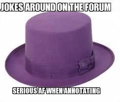 Hat Meme - ot white yellow purple hat memes genius