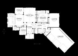 Home Plans With Master On Main Floor Main Floor Plan Of Mascord Plan 22156 The Halstad Lodge Style