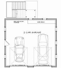 garage floor plan economical two car garage with storage 12435ne architectural