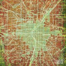 Vintage Map Colorado Map Green And Bronze Vintage Map Year 1958 Digital Art