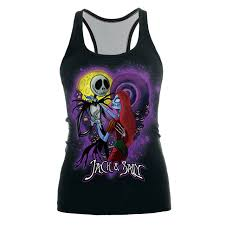 womens printed sleeveless tshirt the nightmare before