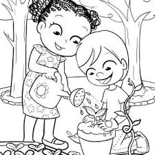 family gardening activity coloring pages bulk color