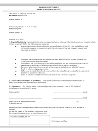 Power Of Attorney Template Pdf by Real Estate Power Of Attorney Form 7 Free Templates In Pdf Word