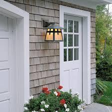 shingle style home exterior garage lighting brass light gallery