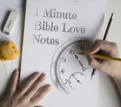 1 minute bible love notes