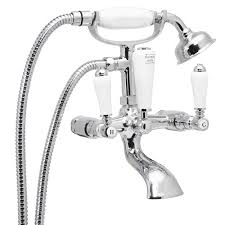 enki kensington traditional design bath filler shower wall mixer