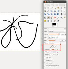 11 04 how to set pressure sensitivity in gimp to control line