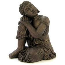 blue ribbon pet products environments resting buddha statue