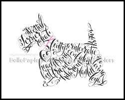 scottish terrier portrait personalized pet painting scottish