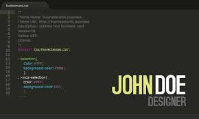 free developer business card template for photoshop business
