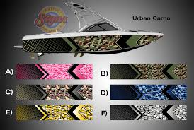 urban camo arrow design camouflage boat wrap u2013 wrap graphics