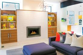 Mid Century Modern Electric Fireplace by Home Of The Year 2014 Best Renovation Pittsburgh Magazine