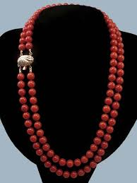 large red bead necklace images Coral bead necklace clipart jpg