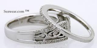 celtic wedding sets celtic knot wedding ring set