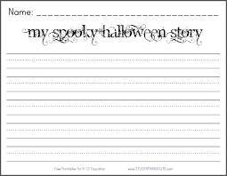 my spooky halloween story free printable k 2 writing prompt