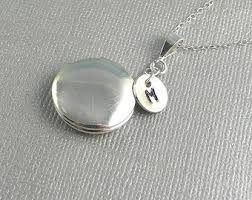 Personalized Photo Locket Necklace Personalized Locket Custom Locket With Initial Sister Gift