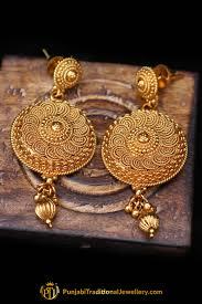 golden earrings golden earrings by punjabi traditional jewellery punjabi