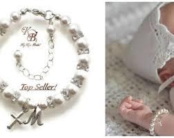baptism charm bracelet beaded bracelets etsy no