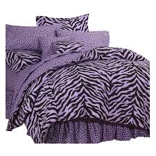 Zebra Print Bedroom Accessories Girls Amazon Com Purple Zebra Print Bed In A Bag Twin Home U0026 Kitchen