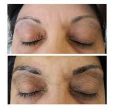 makeup classes milwaukee student is doing microblading on live model microblading