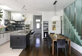 dinning rooms contemporary dining room and kitchen with rustic