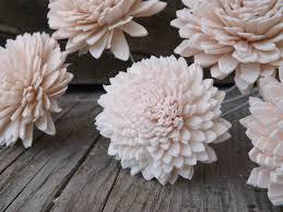 sola flowers 6 stemmed sola flowers dahlia blush pink light pink set of 6